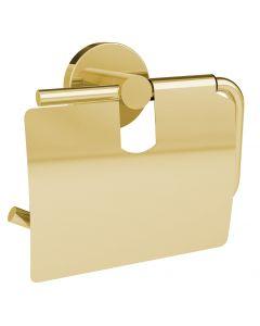 Coperblink Wc-papierhouder met afdekplaat - Glanzend Goud
