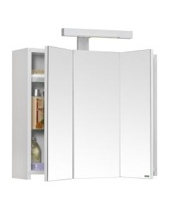 Pian'O Toiletkast Met Verlichting 60 Cm - Wit - Mat - 60x60,5x18 cm