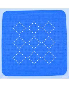 Spirella Alaska - Douche Anti-Slipmat - PVC Soft - 55x55 cm - Blauw