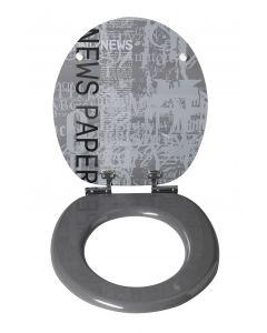 Deco Grafic Line Newspaper WC-Bril