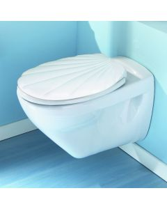 Deco Shellwit WC-Bril Wit