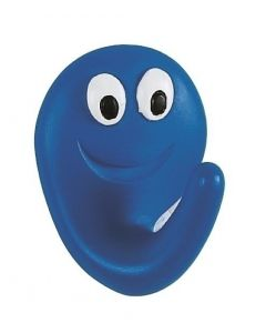Spirella Smile Haak - Blauw / Smile Electric Blauw - Mat - 4x5x2,5 cm - Klevend