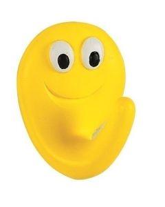 Spirella Smile Haak - Geel / Smile Sun - Mat - 4x5x2,5 cm - Klevend