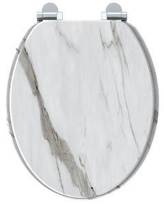 Naturo WC-Bril Wit marmer