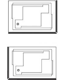Fix alu Hoekmantel voor baden Confidence en Spallibert Duo - 180x120 - Wit