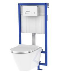 Link Pack WC suspendu - Plaque blanche