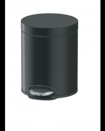 Lycia Afvalemmer pedaal rond 5L - Zwart