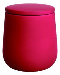 O Touch Pot à coton - Rouge Soft touch