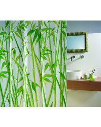 Spirella Bambus - Douchegordijn - Textiel - 180 x200 cm - Groen
