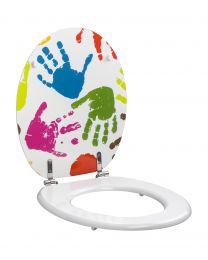 Deco Gekleurde Handjes WC-Bril
