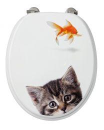 Kat-Vis WC-Bril - 37,3x5,6x44,8 cm