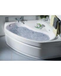 Whirlpoolbad Lucina + Mantel Twinzen 2 - 140x140x53,2-53,5 cm