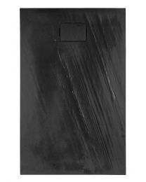 Rockstone Receveur de douche Rectangle - Gris Anthracite - Mat - 140x90x3,5 cm