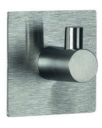 Spirella Meti Haak - Chroom - Geborsteld - Vierkant - 5x5x3 cm - Klevend