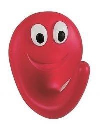 Spirella Smile Haak - Rood / Smile Rood - Mat - 4x5x2,5 cm - Klevend